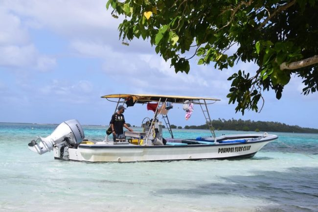 Our boat in Pohnpei