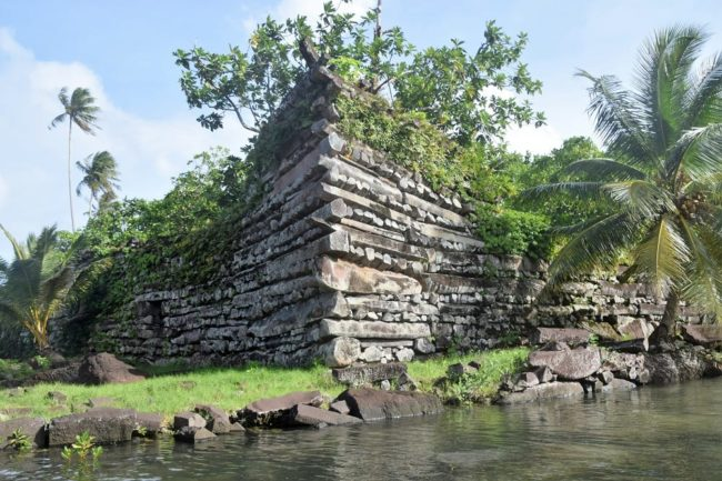 The ruins at Nan Madol