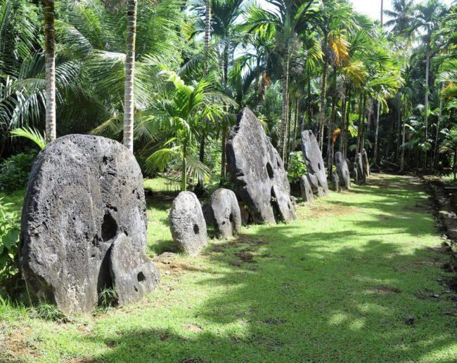 A stone money bank on Yap Micronesia