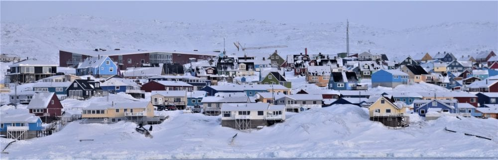 View of Ilulissat from the sea, Greenland