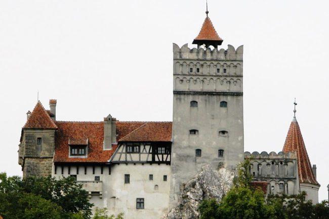 A side view of Bran Castle, Romania