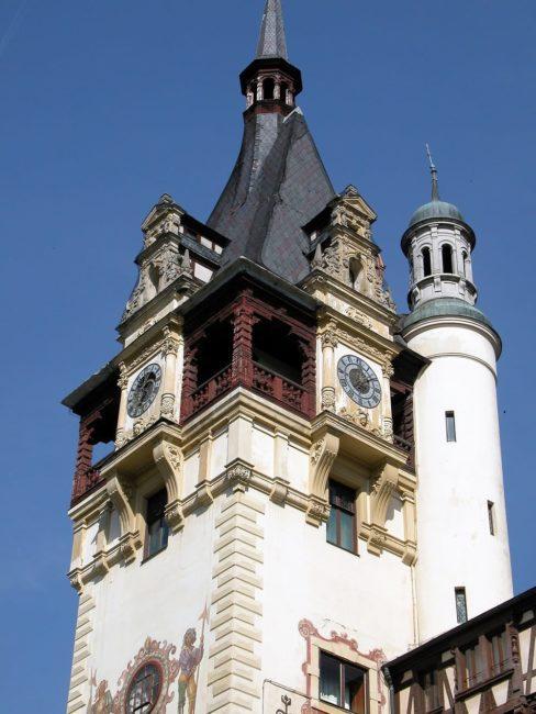 The main tower of Peles Castle, Romania