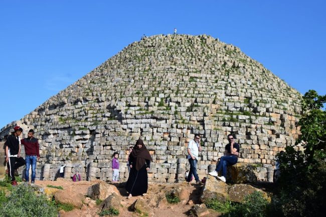 The huge brick built and beehive shaped Royal Mausoleum of Mauretania at Sidi Rachid Algeria