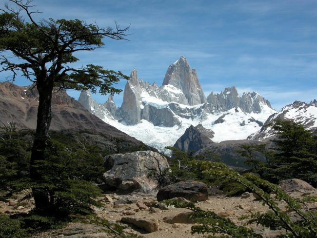 Panoramic view- the jagged peaks of Mount Fitzroy, Argentina