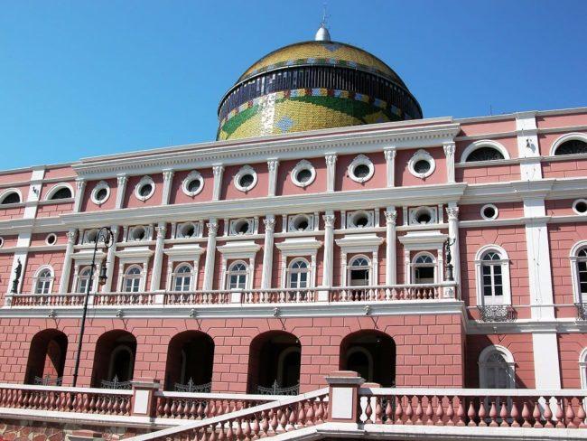 The Amazon Theatre - opera house, Manaus, Brazil
