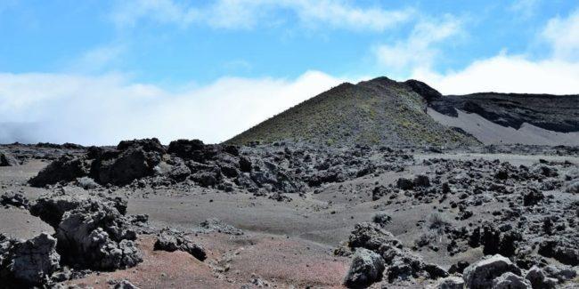 A lava field at Piton de la Fournaise, Reunion