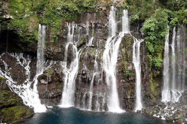 The beautiful waterfalls at Grand Galet