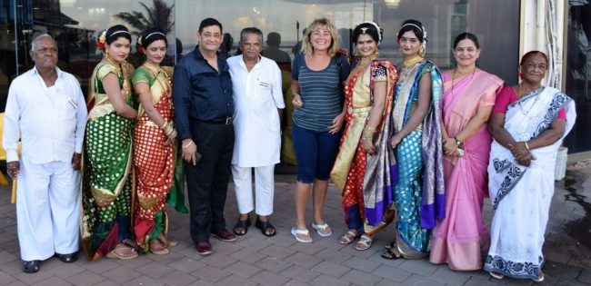 Sue with the Bollywood troupe on Nauru