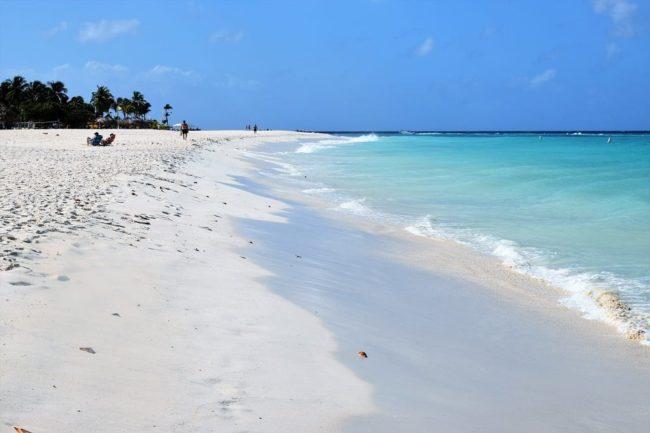 A view along Eagle Beach, Aruba