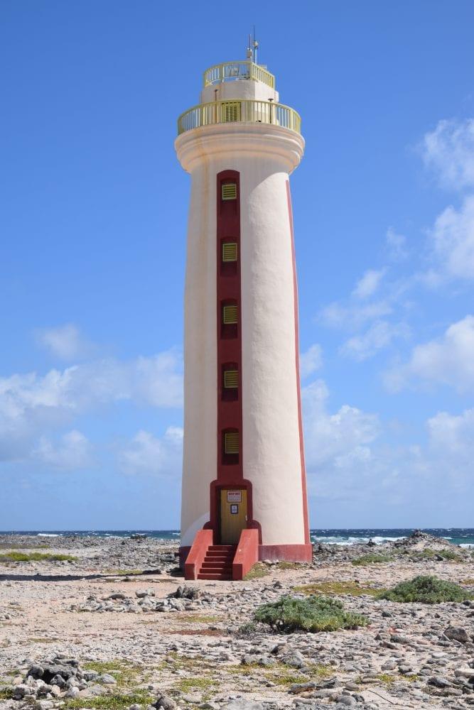 The tall lighthouse on Bonaire
