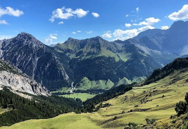 Mountains and valley Liechtenstein