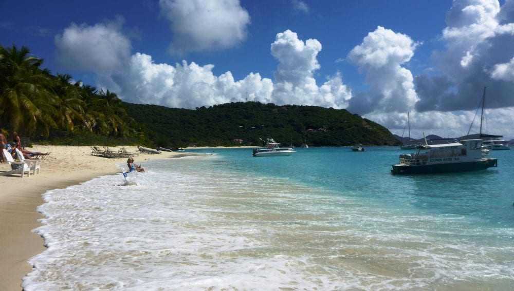 The tide comes in at White Bay Beach Jost Van Dyke