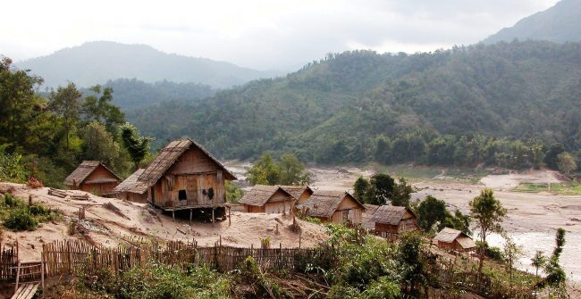 Village on the Mekong river
