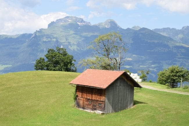 An isolated mountain hut