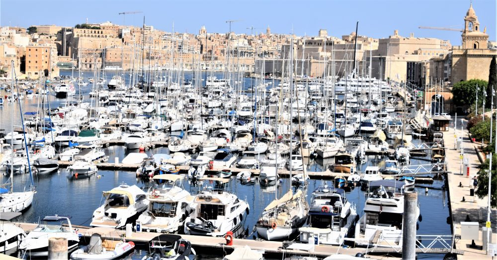 A view across the marina at Vittorioso to Valletta