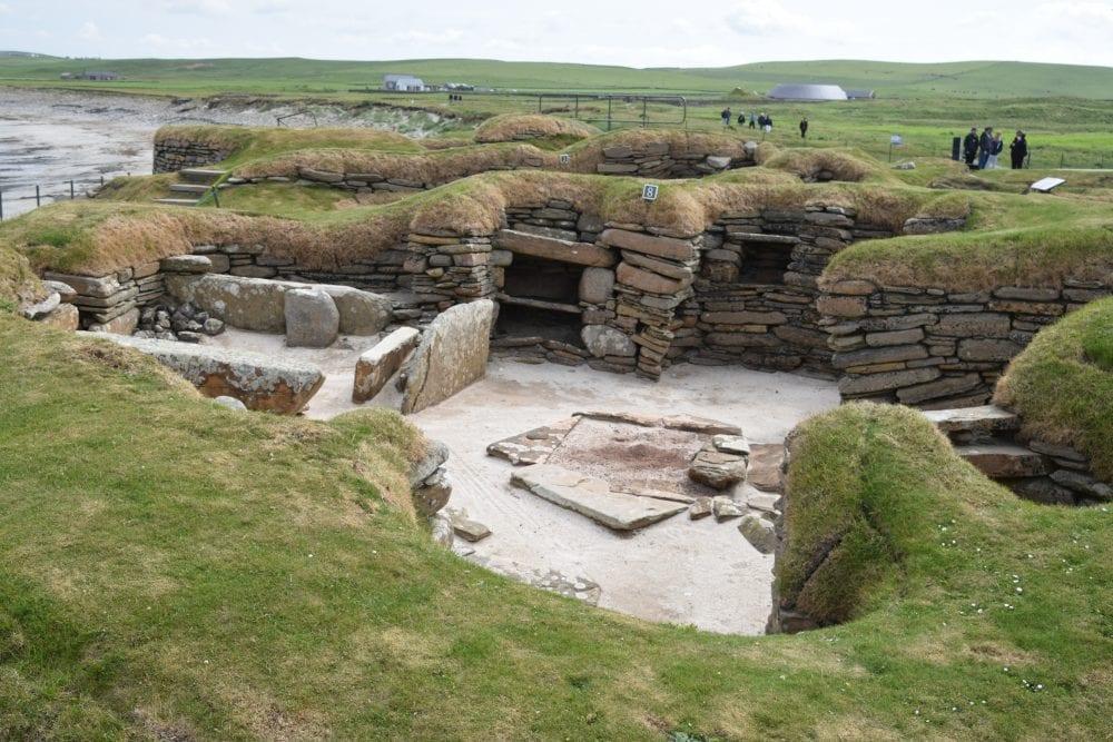 An excavated house at Skara Brae, Orkney