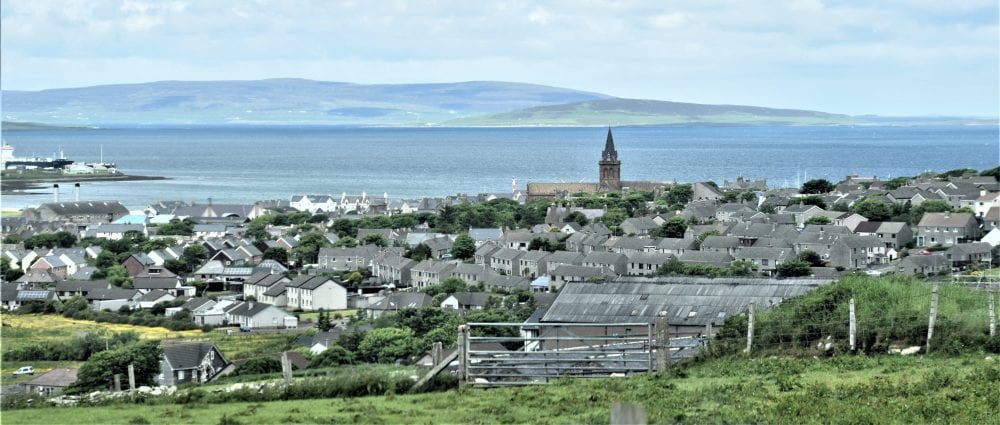 A panoramic view of Kirkwall, Orkney