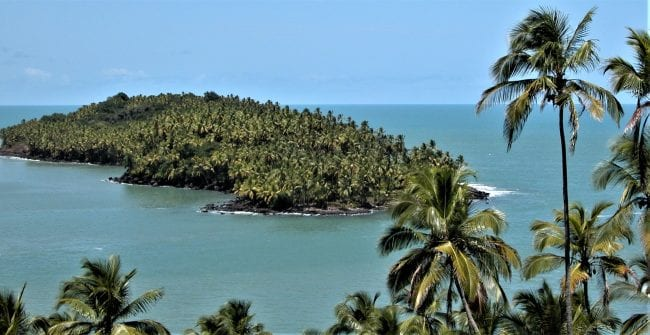 View of Devil's Island French Guiana