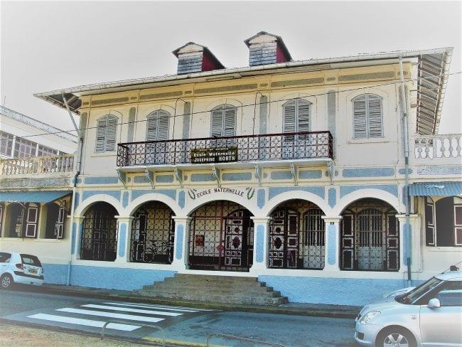 Colonial nursery school building Cayenne French Guiana