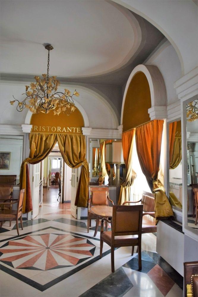 The ornate reception in my hotel in Asmara