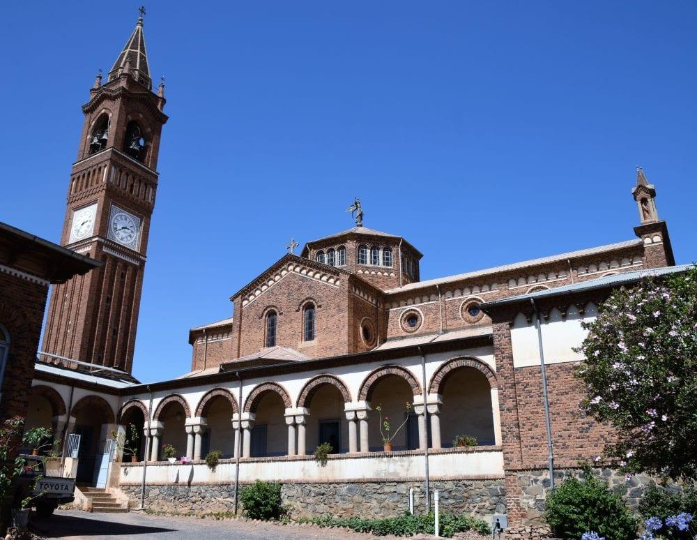 The Italianate cathedral in Asmara