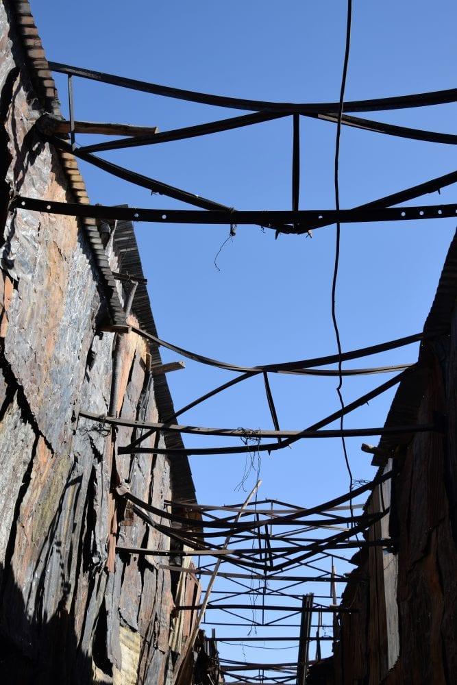 The metal roof of welders alley in Asmara