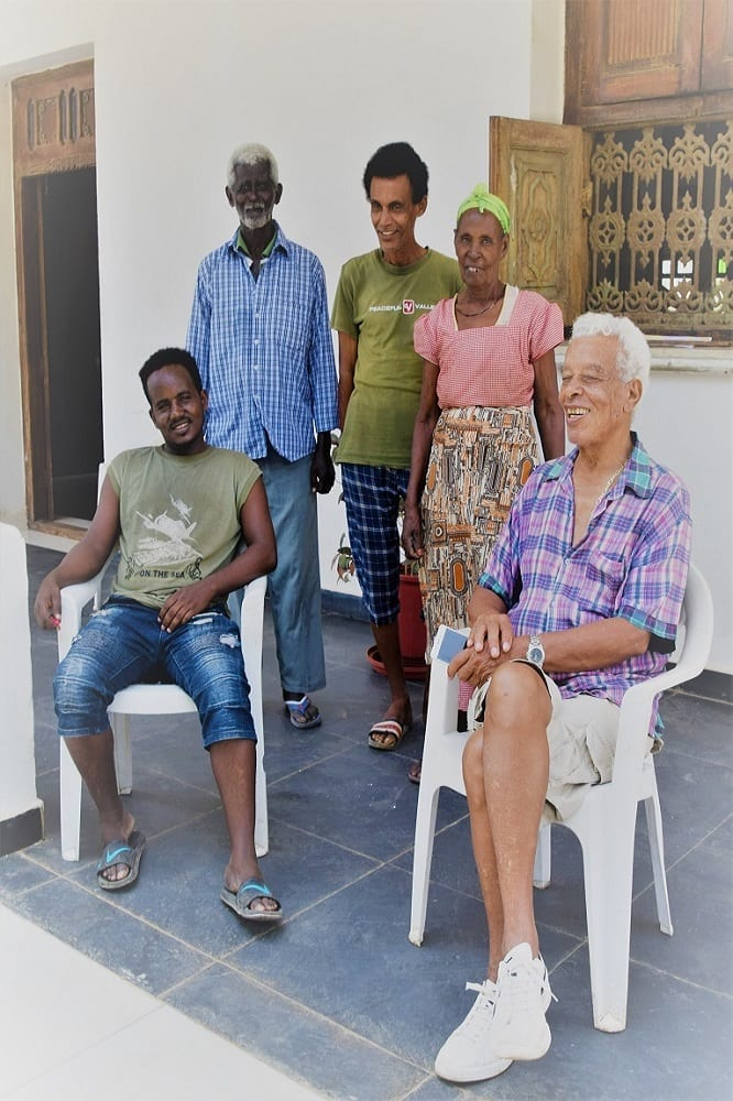 The family of the Hotel Grand Dahlak owner