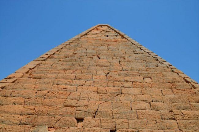 The peak of a pyramid at Jebel Barkal, Sudan