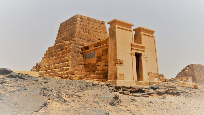 A reconstructed temple at Merowe, Sudan