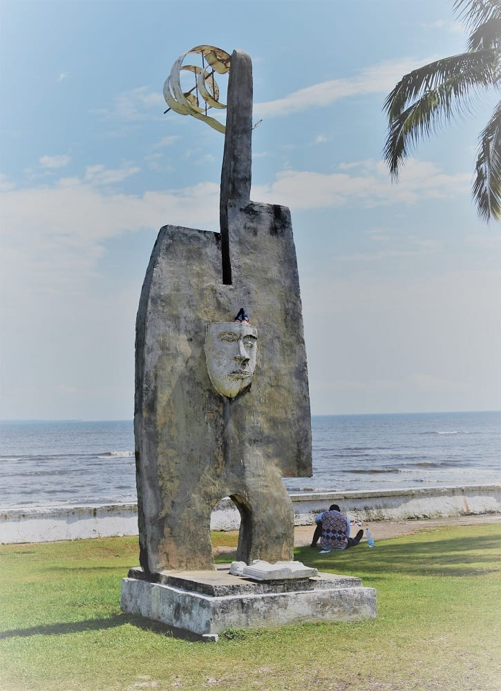 A statue by the sea