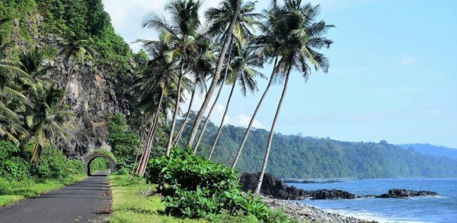 The coast at Santa Caterina, São Tomé