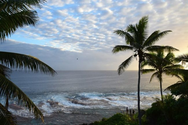 The view across the reef from my room in Niue