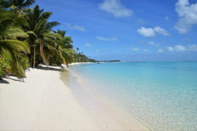 Cocos Islands - the immaculate sand of Cossie Beach