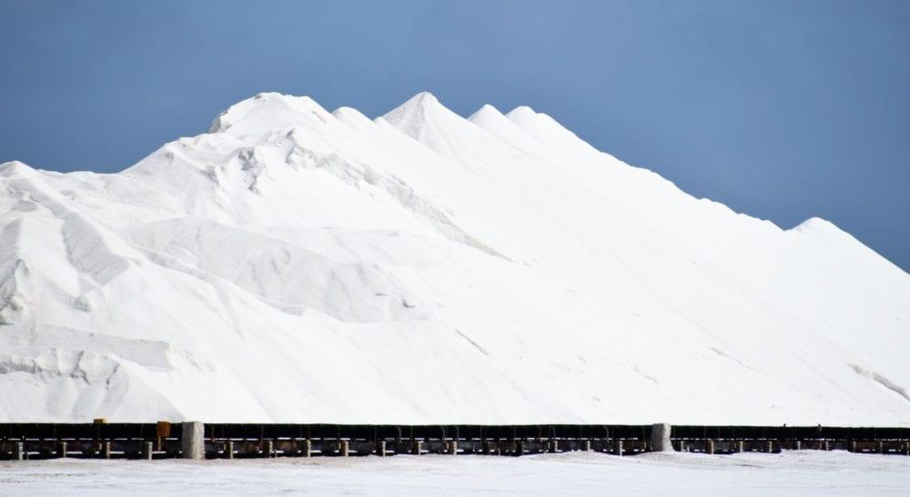 Heaps of salt at the salt lake