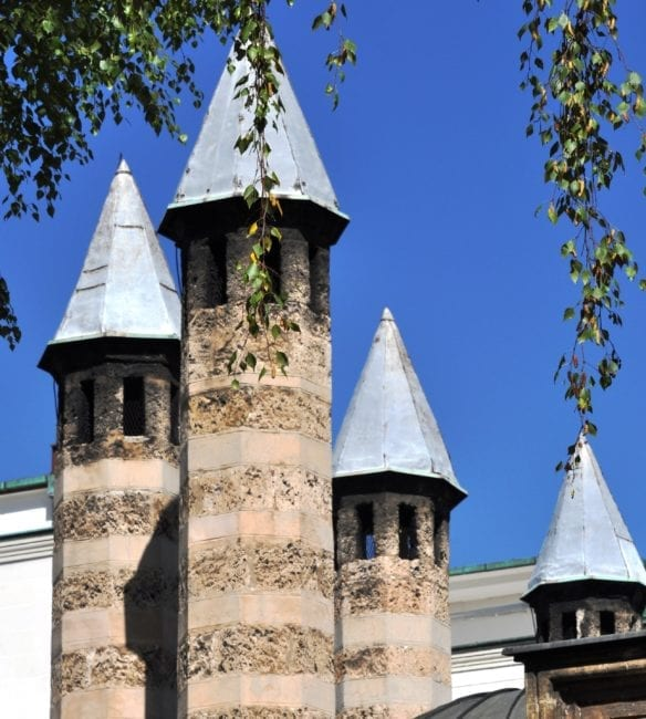 Four Disney castle type turrets in Sarajevo
