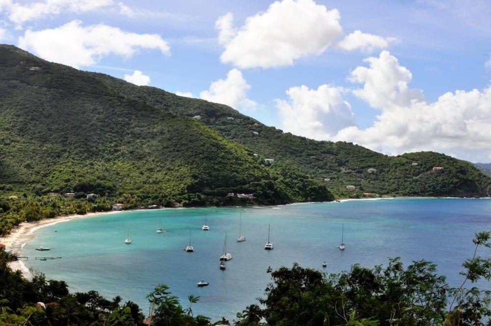 Cane Garden Bay British Virgin Islands from above