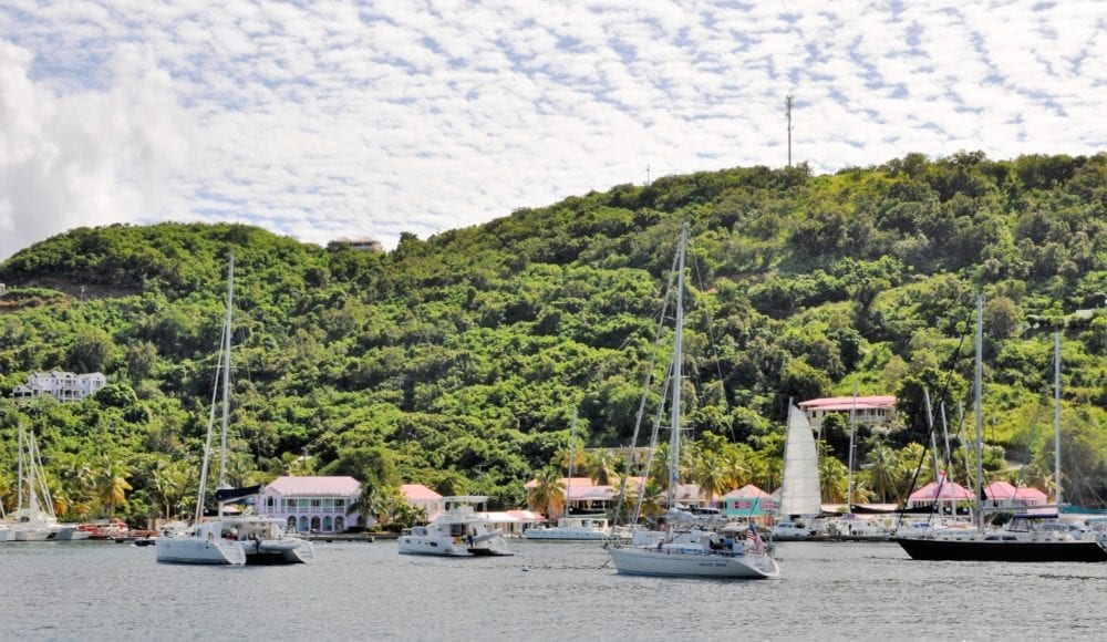 Boats in the harbour at Road Town, Tortola, British Virgin islands