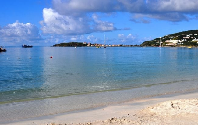 The beach and sea view at Great Bay Sint Maarten