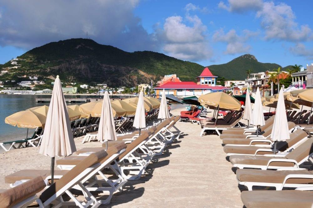 The beach at Great Bay Sint Maarten