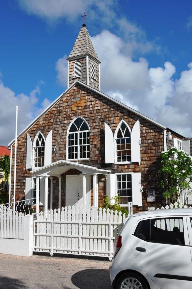 A Dutch style Church at Philipsburg Sint Maarten