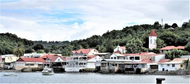 Deshaies , Guadeloupe seen from the sea