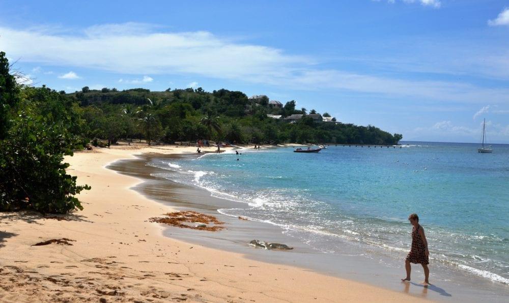 The golden sand at Falmouth Bay Antigua