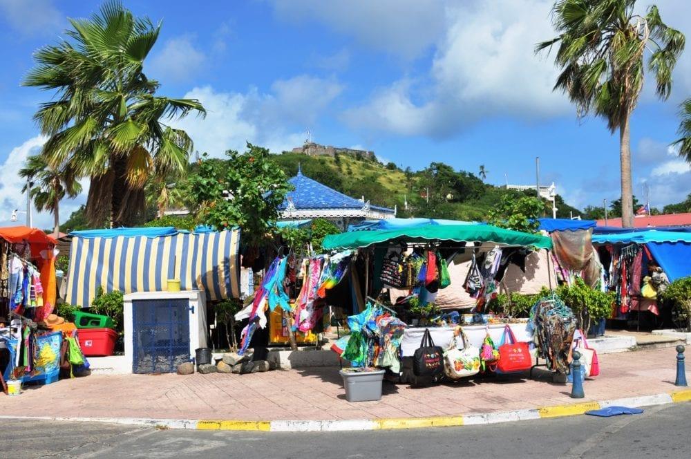 A small market on Saint Martin
