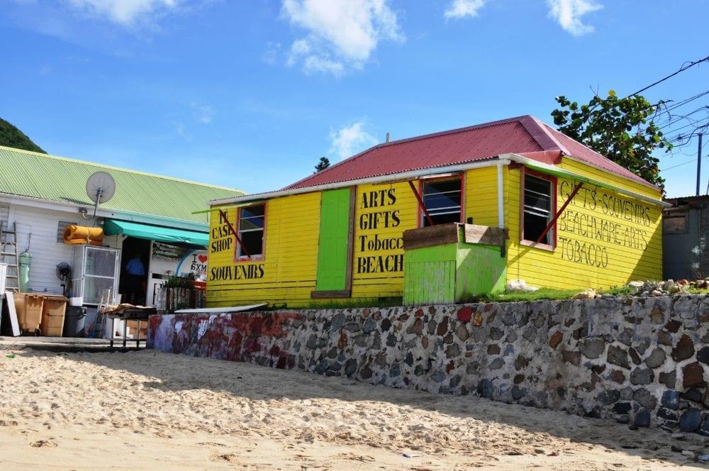 A beach kiosk on Tobacco Beach Saint Martin