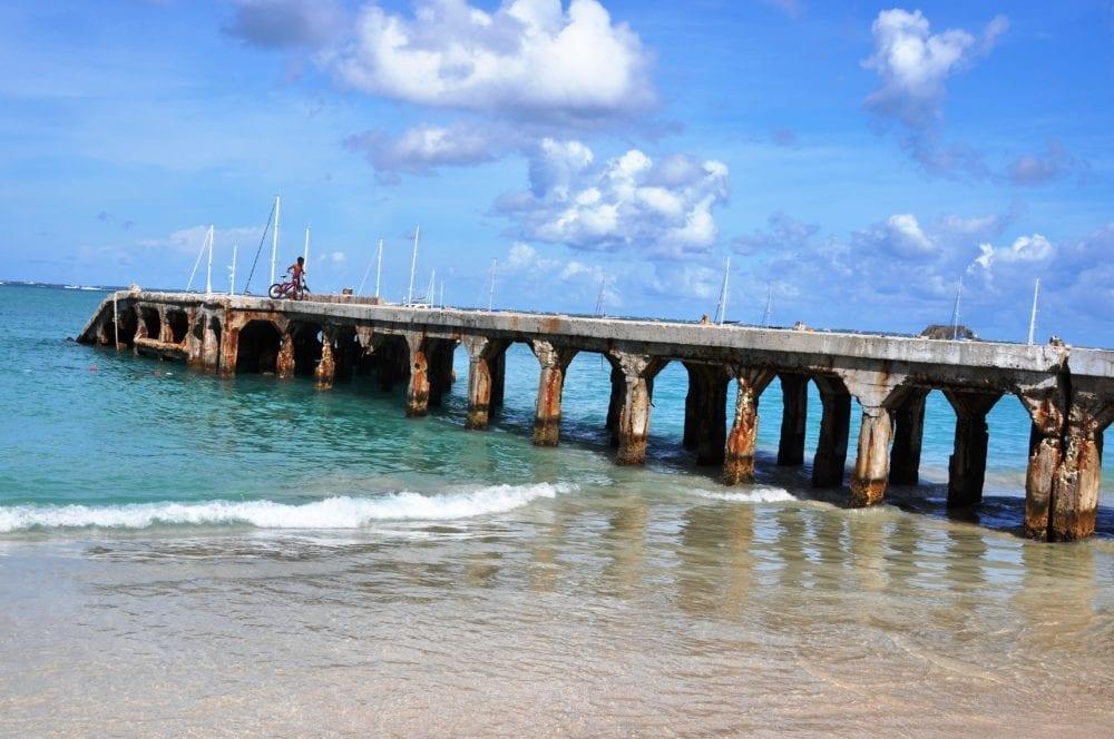 The pier at Grand Case Beach Saint Martin