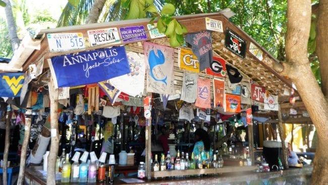 The Soggy Dollar Bar at White Bay Beach Jost Van Dyke