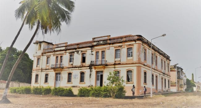 A dilapidated mansion in Bolama Bijagos Islands