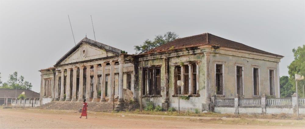 The ruined palace at Bolama Bijagos islands Guinea-Bissau