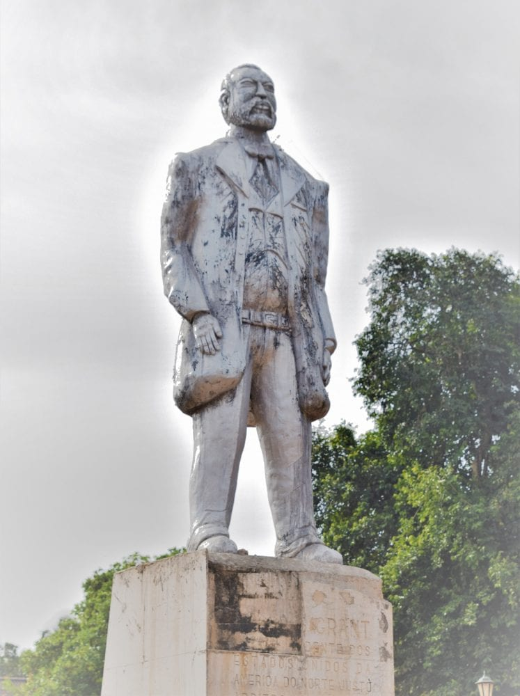 The statue of Ulysses Grant in Bolama