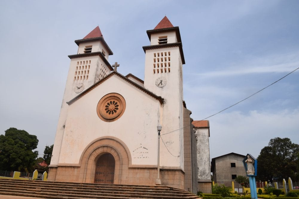 A church in Bissau with two towers